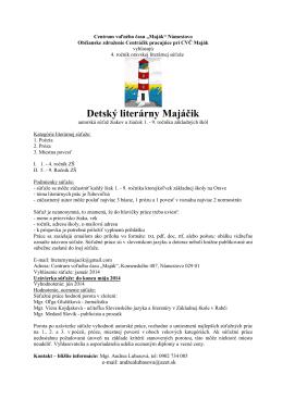 Detský literárny Majáčik