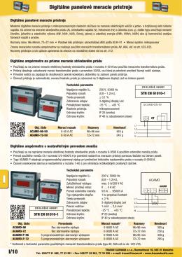 I/10 Digitálne panelové meracie prístroje