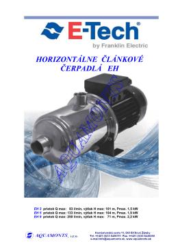 ČLÁNKOVÉ ČERPADLÁ EH (PDF verzia)
