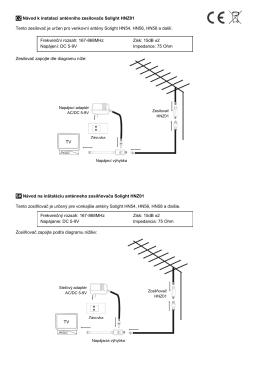 CZ Návod k instalaci anténního zesilovače - SOLIGHT E-shop
