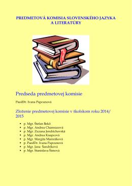 Predmetová komisia slovenského jazyka a literatúry