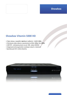 Showbox Showbox Vitamin 5000 HD