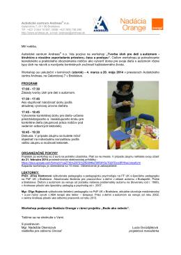 Tvorba úloh pre deti s autizmom - štruktúra a vizuálne usporiadanie