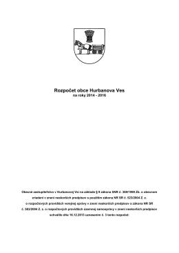 Rozpočet obce na rok 2014