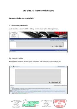 VW-club.sk club.sk - Bannerová reklama