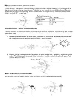 SK Návod k instalaci venkovní antény Solight HN57 Vážený