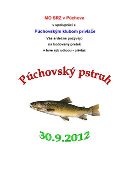 propozície Púchovský pstruh 2012