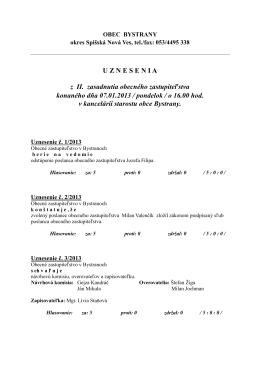Uznesenie 07.01.2013