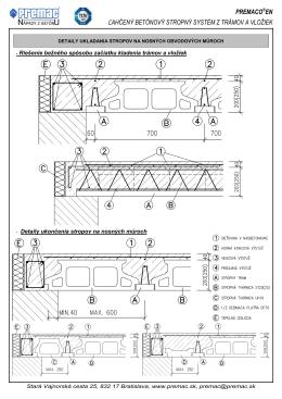 Ukladanie stropov na nosných obvodových múrov