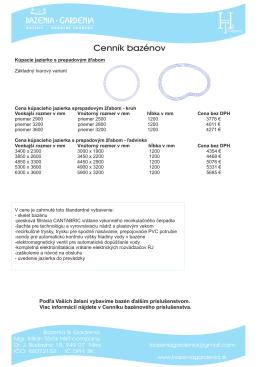 Cenník jazierko s prepadom.cdr - Bazenia