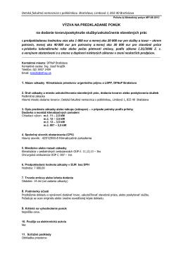 Klimatizácia priestorov urgentného príjmu a LSPP