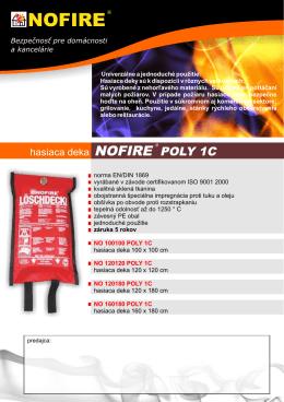 hasiace deky NOFIRE POLY 1C