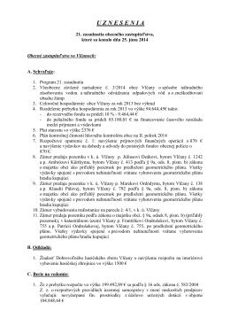 Uznesenia 21. zasadnutia OZ