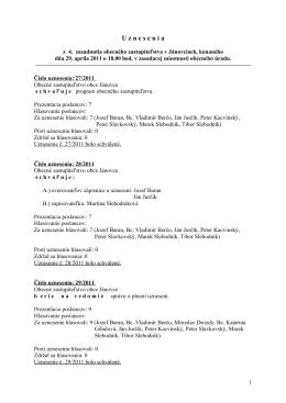 Uznesenie z 29.04.2011