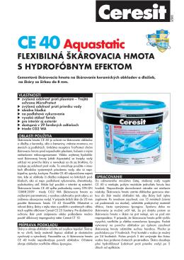 CE 40 Aquastatic_Technicky list