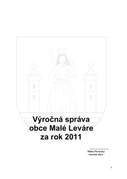 Výročná správa obce Malé Leváre za rok 2011