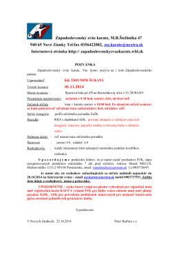 Adresar rozhodcov SZKe IBU - Západoslovenský zväz karate