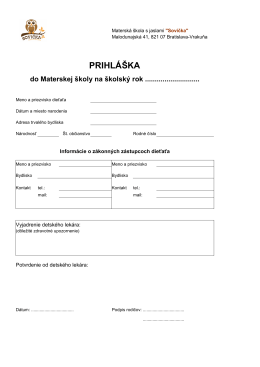 PRIHLÁŠKA - skolkasovicka.sk