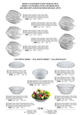 misky s integrovaným viečkom (pet)