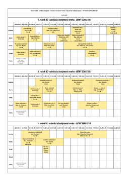 Rozvrh hodín 2014/2015 – letný semester