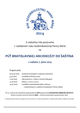 púť Bratislavskej arcidiecézy [pdf]
