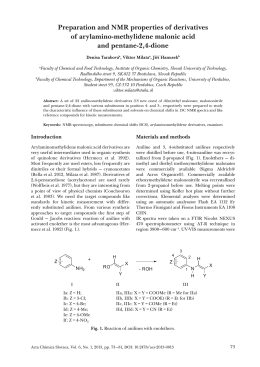 Preparation and NMR properties of derivatives of arylamino