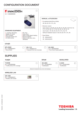 Konfiguračná brožúra e-STUDIO2505H