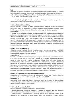 Vec: Odpovede na žiadosti o vysvetlenie vo verejnom obstarávaní