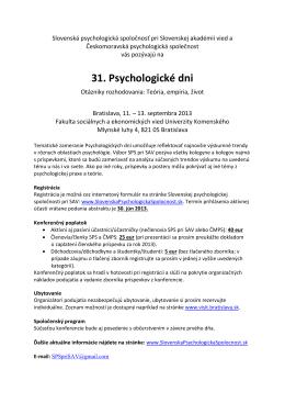 pozvánka vo formáte .pdf - Slovenská psychologická spoločnosť pri