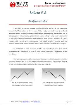 Podrobný popis trendu, psychológie supportu a rezistencie.
