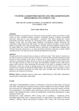 využitie laserového skenovania pri geodetickom monitoringu pve