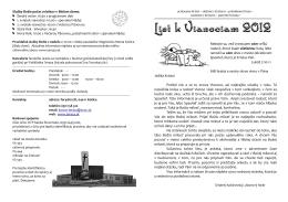 List k Vianociam 2012 - Evanjelický cirkevný zbor av Košice Terasa
