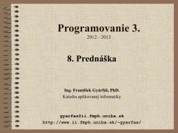 Programovanie 3.