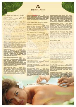 wellness   fitness   spa i. ošetrenia pleti thalgo a terraké ii. ošetrenia