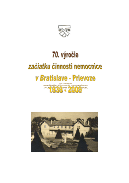 Bulletin o Liečebni - Kongregácia Dcér sv. Františka Assiského
