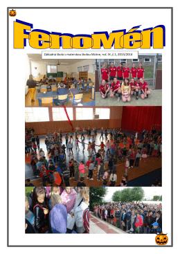 1 Základná škola s materskou školou Mútne, roč. IX.,č.1, 2013/2014