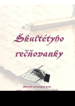 Zborník - Hontiansko-novohradská knižnica AH Škultétyho Veľký Krtíš