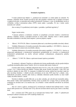 Terminál a legislatíva. V tomto pokračovaní článkov o - Trenčín-inak