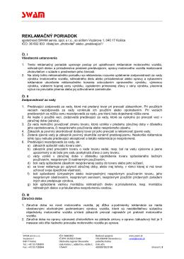reklamačný poriadok SWAM 2014.pdf