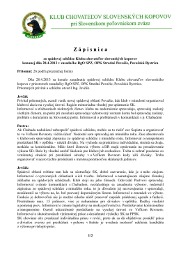 zápisnica spádovka PB 2013 - Slovenský kopov – Klub chovateľov