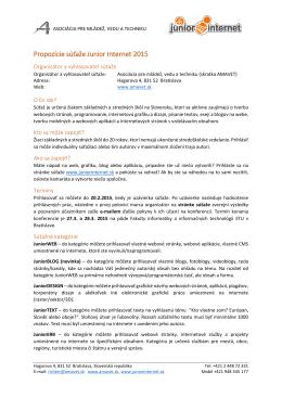 Propozície súťaže v PDF na stiahnutie.
