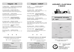 Astronomický informátor 4/2012 - Hvezdáreň a planetárium v Prešove