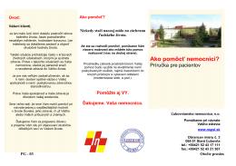 Ako pomôcť nemocnici? - Ľubovnianska nemocnica n. o.
