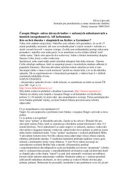 Časopis Dingir- odraz dávnych kultov v súčasných náboženstvách a