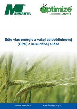 Ešte viac energie z vašej celoobilninovej (GPS) a kukuričnej siláže