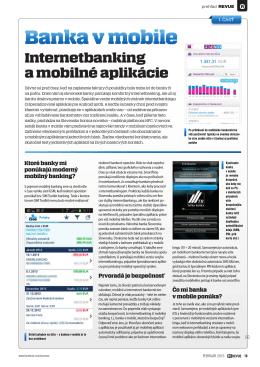 Desať podrobných recenzií mobilného bankovníctva slovenských bánk