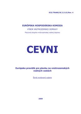 Európske pravidlá pre plavbu na vnútrozemských vodných cestách