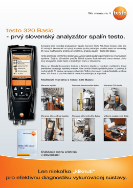 testo 320 Basic - prvý slovenský analyzátor spalín testo.