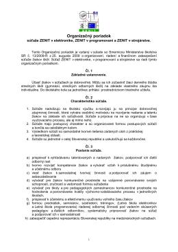 Organizačný poriadok súťaže - Štátny inštitút odborného vzdelávania