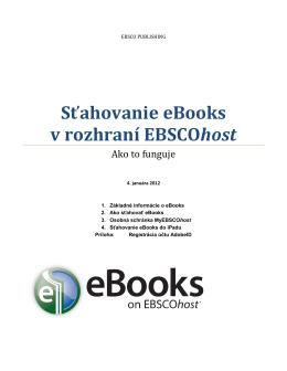 Návod s postupom na sťahovanie eBooks.